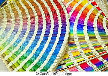 オフセット, ガイド, 印刷, 色