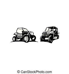オフロード, インスピレーシヨン, 自動車, ロゴ