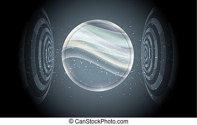 オブジェクト, ベクトル, 背景, 透明, 未来派, 円