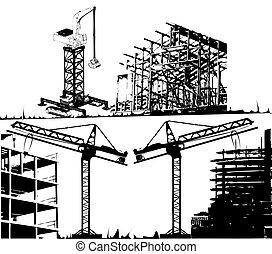 オブジェクト, 建設, ベクトル