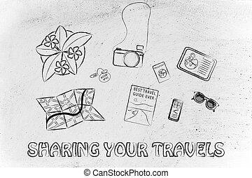 オブジェクト, 旅行, 旅行, 机, 計画, 休日, ∥あるいは∥