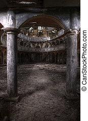 オペラ, 建物, 古い, hdr