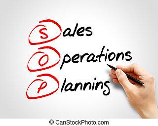 オペレーション, sop, 計画, -, 販売
