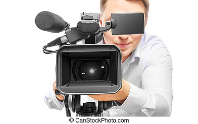 オペレーター, カメラ, ビデオ