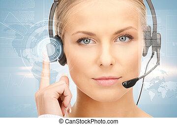 オペレーター, helpline, 未来派, 女性
