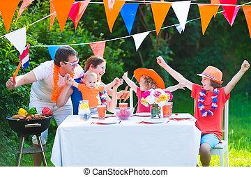オランダ語, 家族, 持つこと, グリル, パーティー