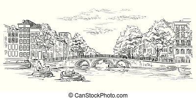オランダ, ベクトル, 図画, 手, 10