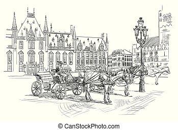 オランダ, ベクトル, 図画, 6, 手
