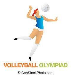 オリンピック, バレーボール, games.