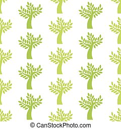 オリーブ, パターン, 木