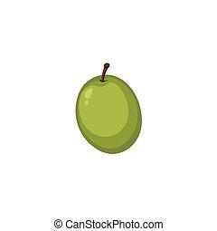 オリーブ, -, ベクトル, 緑, 成果
