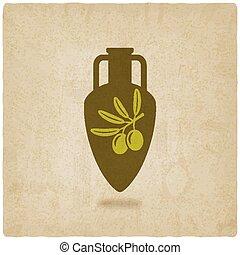 オリーブ, amphora, オイル