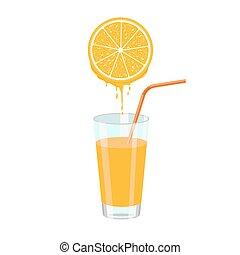 オレンジジュース, スライス