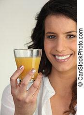 オレンジジュース, 女性の保有物