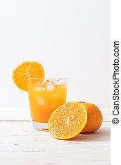 オレンジジュース, 氷