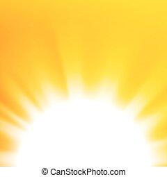 オレンジ太陽, 抽象的, ベクトル, 背景