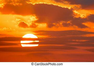 オレンジ太陽, 明るい空