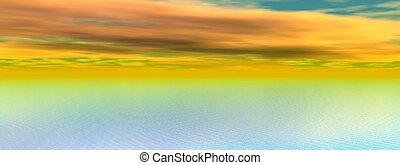 オレンジ日の出, 黄海
