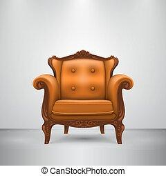 オレンジ椅子, レトロ