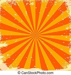 オレンジ縞