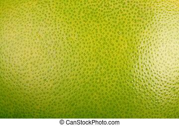 オレンジ背景, 緑