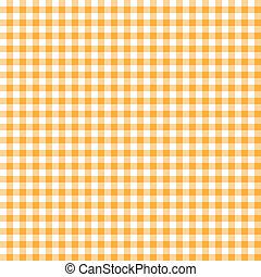 オレンジ背景, checkered