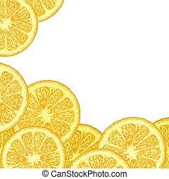オレンジ, くさび, テンプレート
