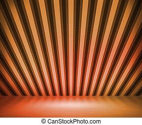 オレンジ, しまのある, 部屋, 背景, ショー