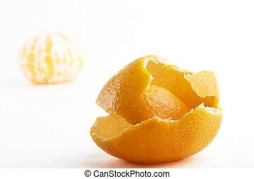 オレンジ, なしで, 皮