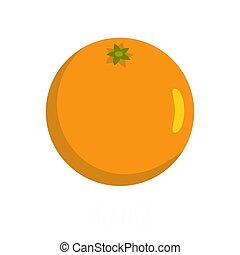 オレンジ, アイコン, 平ら, スタイル