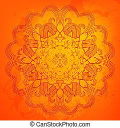 オレンジ, カラフルである, 装飾, ラウンド, 背景