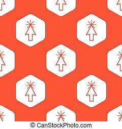 オレンジ, カーソル, 六角形, 矢パターン