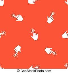 オレンジ, カーソル, 手, パターン