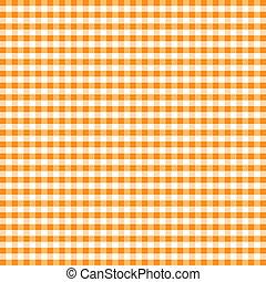 オレンジ, ギンガム, seamless, パターン