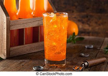 オレンジ, クリーム, すがすがしい, ソーダ