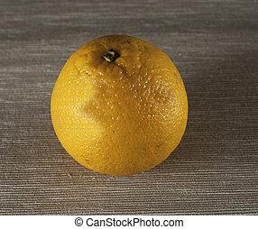 オレンジ, テーブル, 黄色