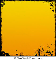 オレンジ, ハロウィーン, 背景