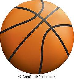 オレンジ, バスケット, 色, ボール, イラスト