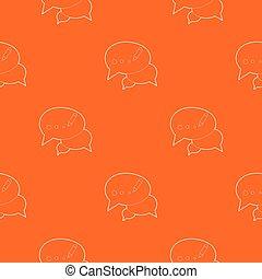 オレンジ, パターン, ベクトル, チャット