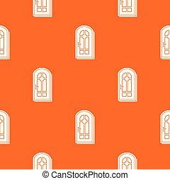 オレンジ, パターン, ベクトル, ドア, アーチ形にされる