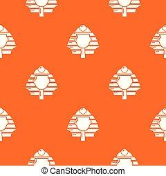 オレンジ, パターン, ベクトル, ファラオ