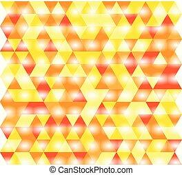 オレンジ, パターン, 三角形, 黄色, 赤