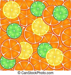 オレンジ, パターン, seamless, 柑橘類