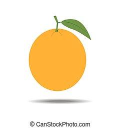 オレンジ, フルーツ, アイコン