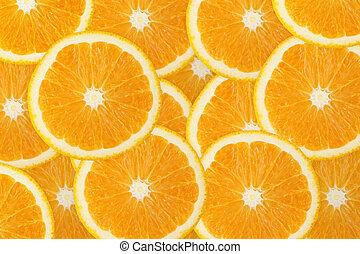 オレンジ, フルーツ, 水分が多い, 背景