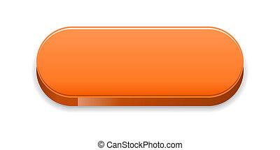 オレンジ, ボタン, グロッシー
