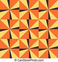 オレンジ, 三角形, 背景, seamless, 黄色
