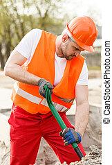 オレンジ, 労働者, 建設, ベスト