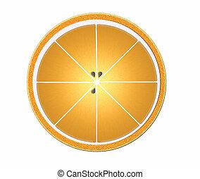 オレンジ, 半分