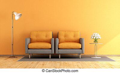 オレンジ, 反響室, 灰色